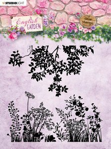 Studio Light stempel 14 x14 Background English Garden nr.435