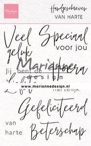 Marianne Design Clear Stamps Handgeschreven - van Harte (NL) CS1049