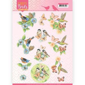 3D Knipvel - Jeanine's Art - Happy Birds - Gevederde vrienden