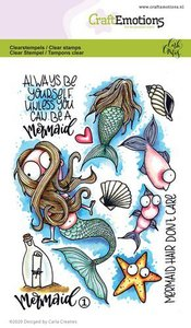 CraftEmotions clearstamps A6 - Mermaid 1 Carla Creaties