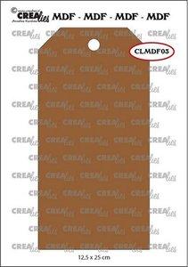 Crealies MDF label CLMDF03