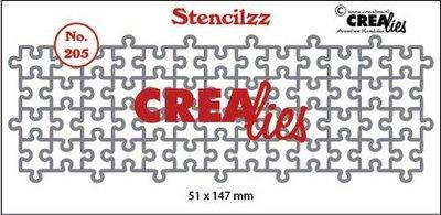 Crealies Stencilzz no. 205 puzzelstukjes 51 x 147mm