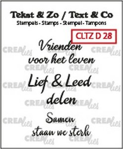 Crealies Clearstamp Tekst & Zo 3x Vrienden (NL)
