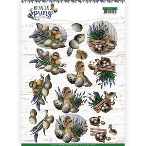 3D cutting sheet - Amy Design - Botanical Spring - Happy Ducks