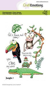 CraftEmotions clearstamps A6 - Jungle 1 Carla Creaties