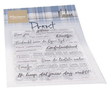 Marianne Design Clear Stamps Proost by Marleen (NL) CS1056