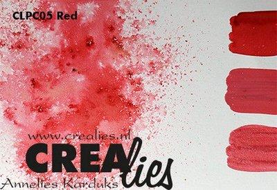 Crealies Pigment Colorzz poeder Rood