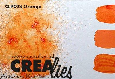 Crealies Pigment Colorzz poeder Oranje