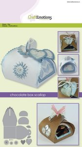 CraftEmotions Die - Chocolate box scallop card A5