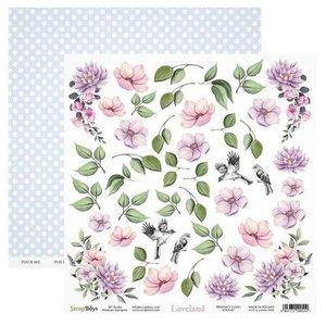 ScrapBoys Loveland paper cut out elements 190gr 30,5cmx30,5cm