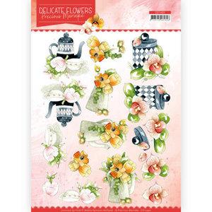 3D Cutting sheet - Precious Marieke - Delicate Flowers - Teapot