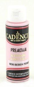 Cadence Premium acrylverf (semi mat) Baby roze 70 ml