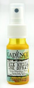 Cadence Mix Media Inkt spray Geel 25 ml