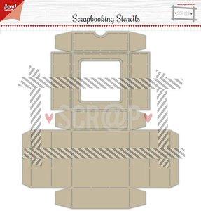 Joy! Crafts Polybesa stencil - Noor - Scrap box met klapdeksel 6005/0003