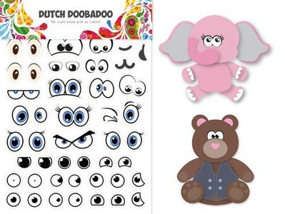 Dutch Doobadoo Dutch Sticker Art A5 Ogen