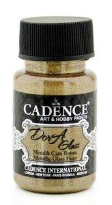 Cadence Dora Glas & Porselein verf Metallic Antiek goud 50 ml