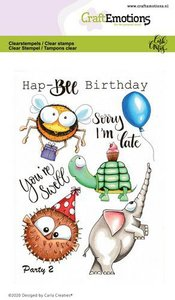 CraftEmotions clearstamps A6 - Party 2 Carla Creaties