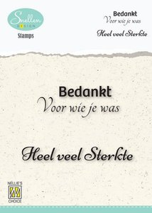 Nellie's Choice Clear Stamps - (NL) Bedankt voor wie je was…