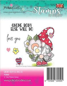 Polkadoodles stamp Gnome body else