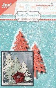 Joy! Crafts Snij-embosstansmal - Noor - NC- kerstbomen 6002/1506