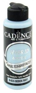 Cadence Hybride acrylverf (semi mat) Baby blauw 120 ml