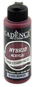 Cadence Hybride acrylverf (semi mat) Bordeaux  120 ml