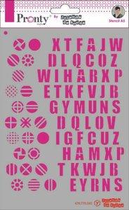 Pronty Mask Pattern Alfabets A5 by Jolanda