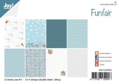 Joy! Crafts Papierset - Design Funfair 6011/0667 A4 -12 vel - 200 gr