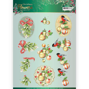 3D cutting sheet - Jeanines Art Christmas Flowers - Mistle Toe