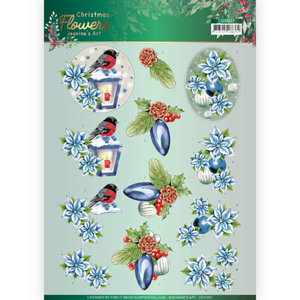 3D cutting sheet - Jeanines Art Christmas Flowers - Christmas Lantern