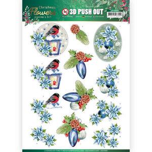 3D Push Out - Jeanines Art Christmas Flowers - Christmas Lantern