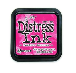 Ranger Distress Inks pad - festive berries Tim Holtz
