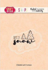 Craft&You Clearstempel Let it snow