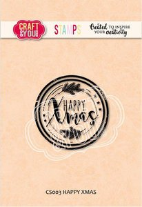 Craft&You Clearstempel Happy Xmas