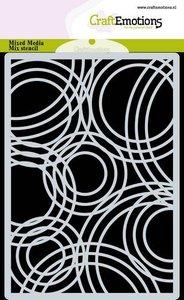 CraftEmotions Mask stencil achtergrond Triple cirkels A6