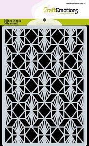 CraftEmotions Mask stencil achtergrond Geometrisch Art Deco A6