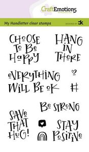CraftEmotions clearstamps A6 - handletter - Choose to be happy (Eng) Carla Kamphuis
