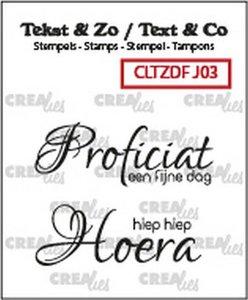 Crealies Clearstamp Tekst & Zo Font Jarig no. 3 (NL)