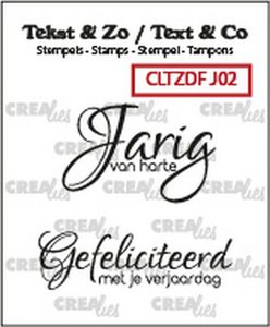 Crealies Clearstamp Tekst & Zo Font Jarig no. 2 (NL)
