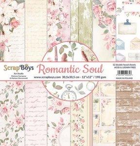 ScrapBoys Romantic Soul paperset 12 vl+cut out elements-190gr 30,5 x 30,5cm