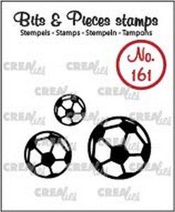 Crealies Clearstamp Bits & Pieces voetballen CLBP161