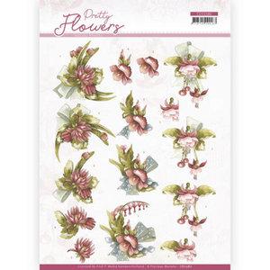 3D cutting sheet - Precious Marieke - Pretty Flowers - Red Flowers