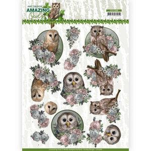 3D Cutting Sheet - Amy Design - Amazing Owls - Romantic Owls