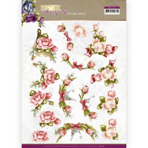 3D cutting sheet - Precious Marieke - Romantic Roses - Pink Rose