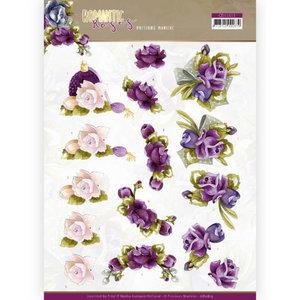 3D cutting sheet - Precious Marieke - Romantic Roses - Purple Rose