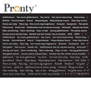 Pronty Stickers A5 Quote black 491.100.011