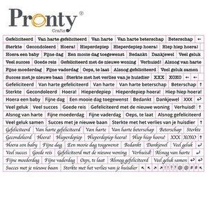 Pronty Stickers A5 Quote white 491.100.012