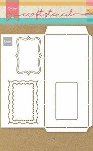 Marianne Design Craft Stencil - A4 - Slimline envelop PS8079