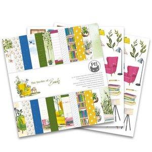 Piatek13 - Paper pad Garden of Books, 12x12''