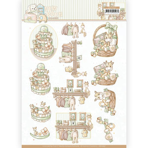 3D cutting sheet - Yvonne Creations - Newborn - Baby Basket